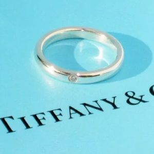 Tiffany And Co. Sterling Stacking Diamond ring7